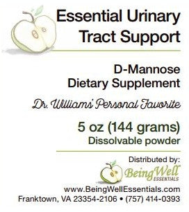 Essential Urinary Tract Support - D-Mannose - Dietary Supplement - Dissolvable Powder