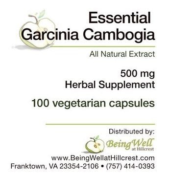 ESSENTIAL GARCINIA CAMBOGIA 500 MG CAPS FOR WEIGHT LOSS - 100 CAPS - FREE US SHIPPING