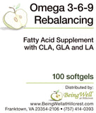 OMEGA 3-6-9 with CLA for MAXIMUM FAT BURNING,100 on sale for $14.95 regularly $24.95 - FREE US SHIPPING