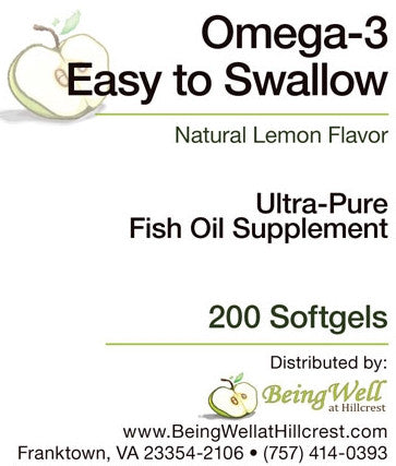 OMEGA-3 EASY TO SWALLOW 200 Softgels -  FREE US SHIPPING