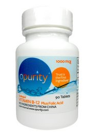 Opurity B-12 Vitamin + Folic Acid - 90 CHEWABLE Tablets