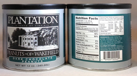 Plantation Peanuts of Wakefield -  Single 12oz. tins