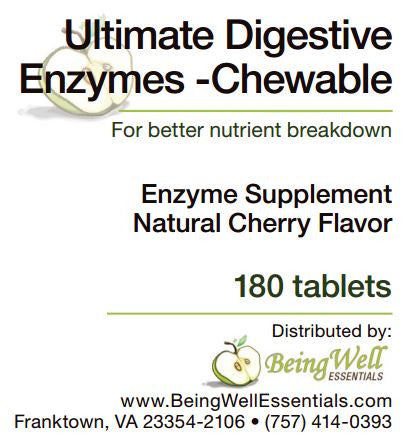 ULTIMATE DIGESTIVE ENZYMES - CHEWABLE - 180 TABLETS