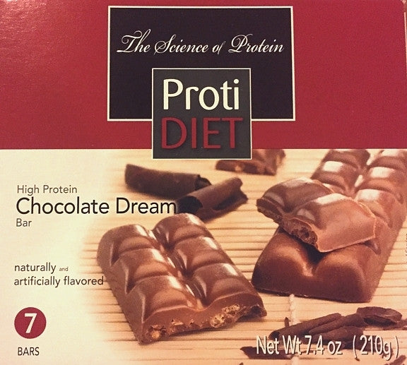 ProtiDiet High Protein Dream Bars - NEW - All flavors - 7 bars - 10 grams protein per bar