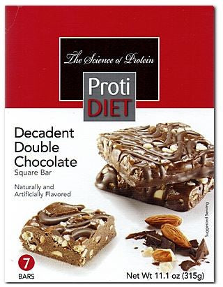 ProtiDiet Decadent Double Chocolate Squares - 7 servings