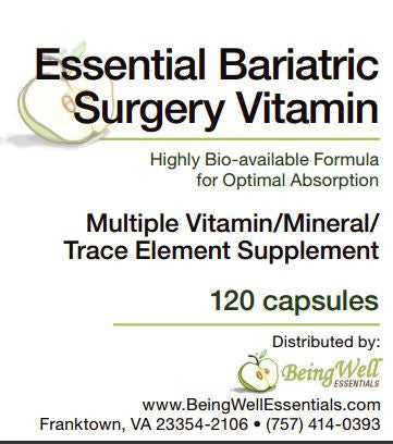 ESSENTIAL BARIATRIC SURGERY VITAMIN (120 Capsules) - FREE US SHIPPING