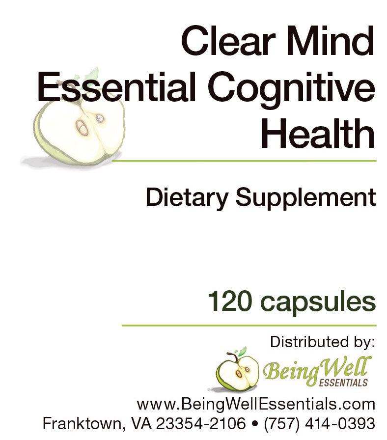 Clear Mind Essential Cognitive Health - Dietary Supplement - 120 capsules