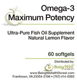 OMEGA-3 MAXIMUM POTENCY 60 softgels - FREE US SHIPPING
