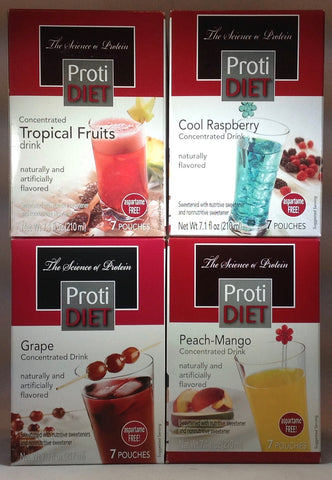 NEW ProtiDiet Drink Concentrate Bundle of FOUR Boxes