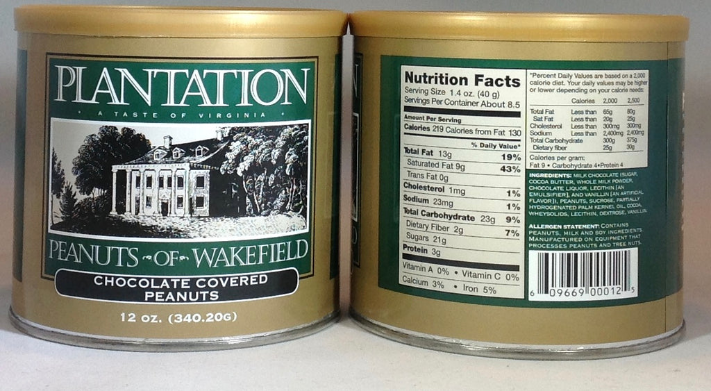 Plantation Peanuts of Wakefield Twin Packs - 2 x 12oz. tinsi