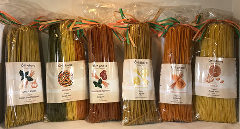 OMphora Artisan Pasta - Hand-made in USA - 12oz. - Available in SIX Amazing Flavors! - 7g protein per serving - serves 6