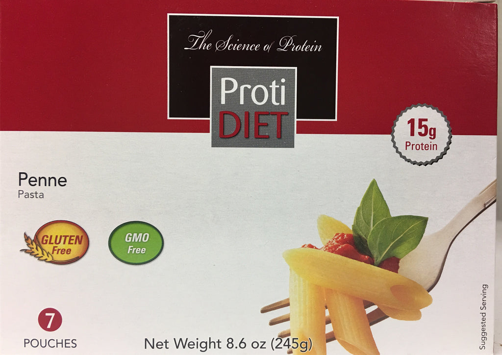 Proti Diet High Protein PENNE Pasta - 15g protein - 7 servings - only 2 net carbs - Gluten FREE - GMO Free - DISCONTINUED - LIMITED STOCK AVAILABLE