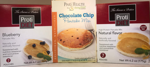 ProtiDiet Pancake Mix - THREE Flavors - 7 servings