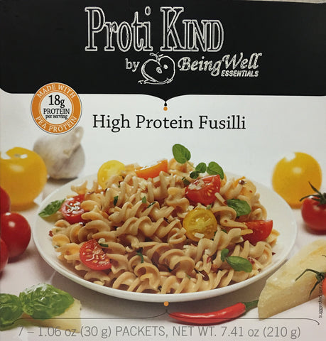 Proti Kind High Protein Fusilli High Protein Pasta - 18g protein - 7 servings - only 4 net carbs