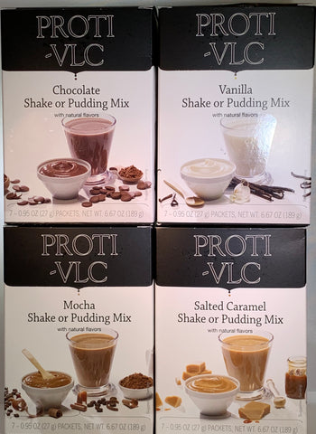 Proti King Very Low Carb All-Natural Pudding/Shake Mix - Sweetened with Stevia - 15g protein - 100 calories