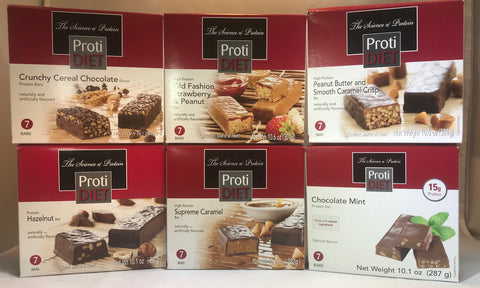 ProtiDiet Protein Bars - 15 g protein per serving
