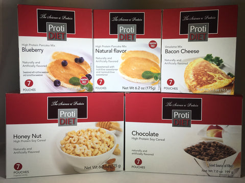Proti Diet Breakfast VALUE SAMPLER - 35 servings - only $49.95