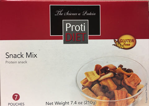 Proti Diet High Protein Snack MIX - 12g protein - 7 servings - only 120 calories - Gluten FREE