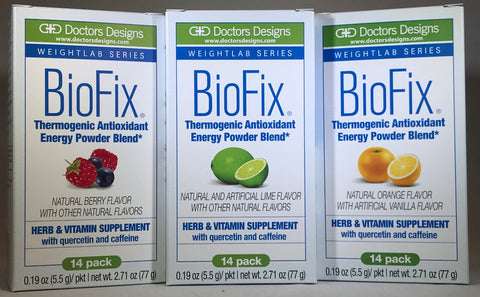 BioFix Thermogenic Antioxidant Energy Power Blend - (14servings/Box) -15calories - 4g carb - Doctors Designs