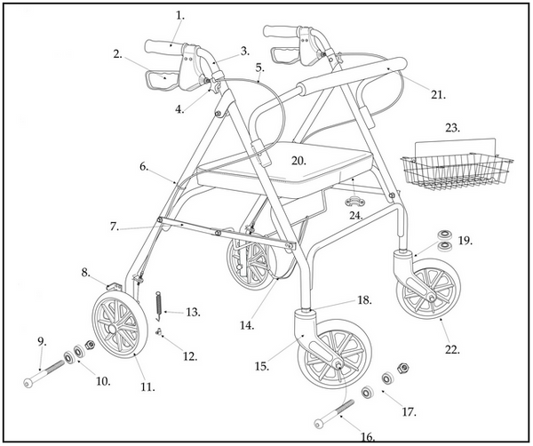 All Replacement parts for Drive 10215 Go-Lite Bariatric