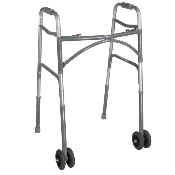Drive 10220-1ww Heavy Duty Bariatric Two Button Walker