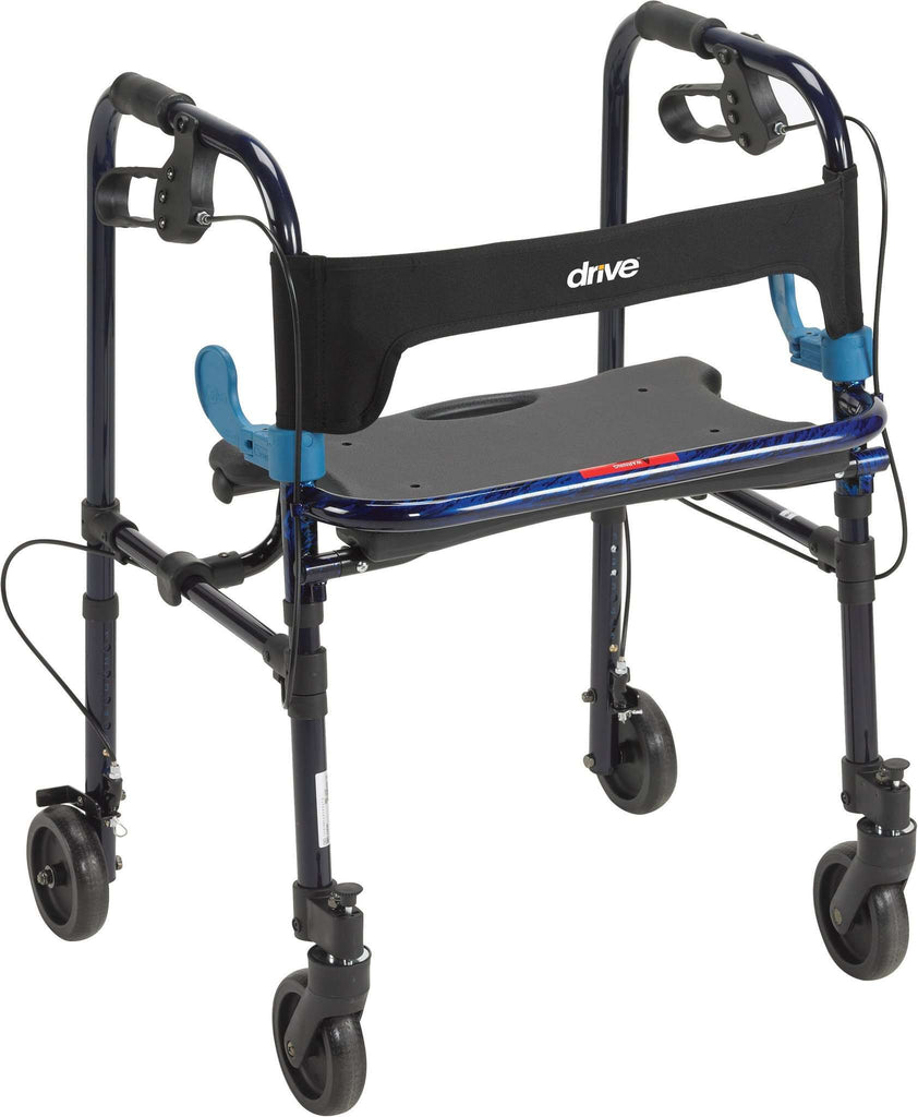"Drive Medical 10243 Clever-Lite Walker, Adult, with 8"" Casters - Advanced Healthmart"