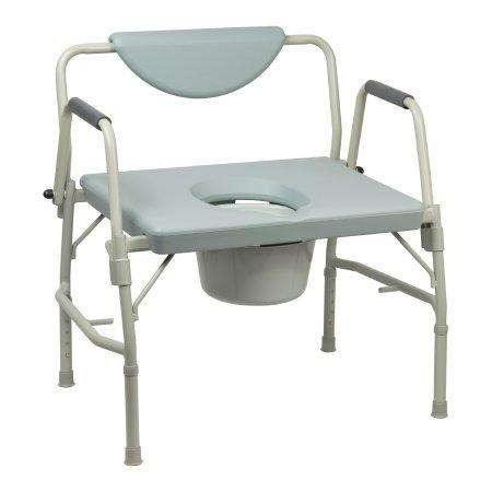Bariatric Padded Back Drop Arm Commode 1000lb. Cap. 146-11135-1 by McKesson