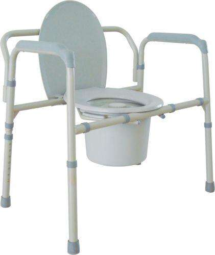 Drive Medical 11117N-1 3-in-1 Bariatric Folding Commode, 650 lbs Capacity - Advanced Healthmart