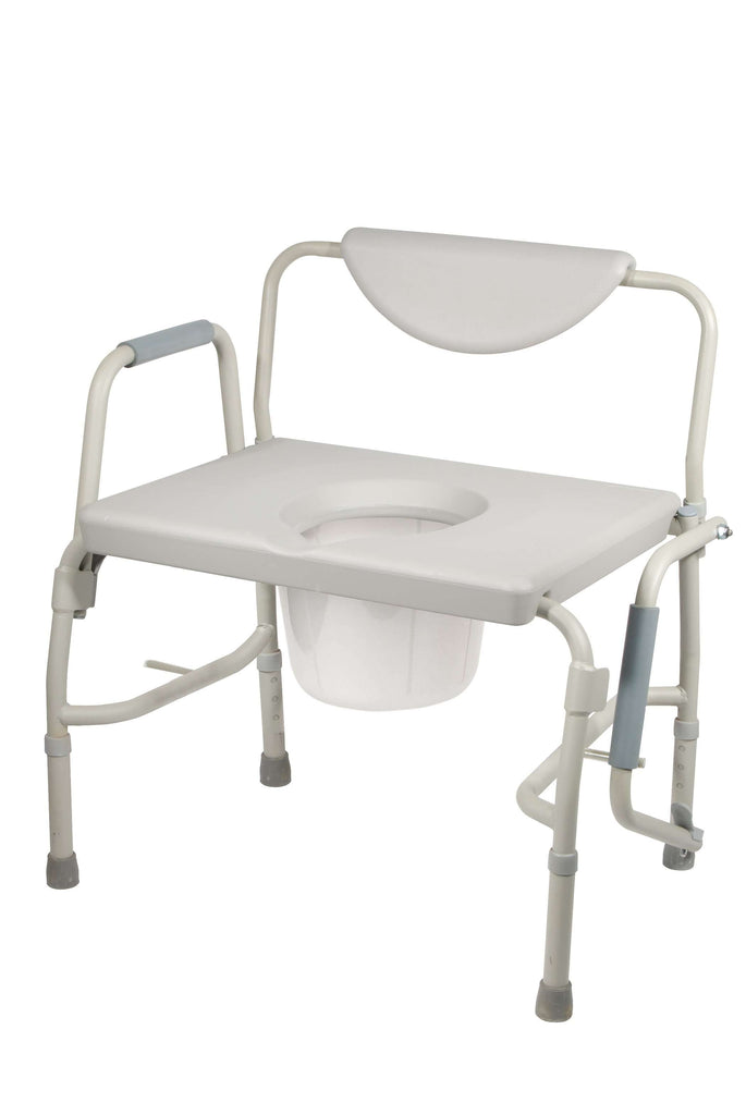 Drive 11135-1 Bariatric Drop Arm Bedside Commode Chair - Advanced Healthmart