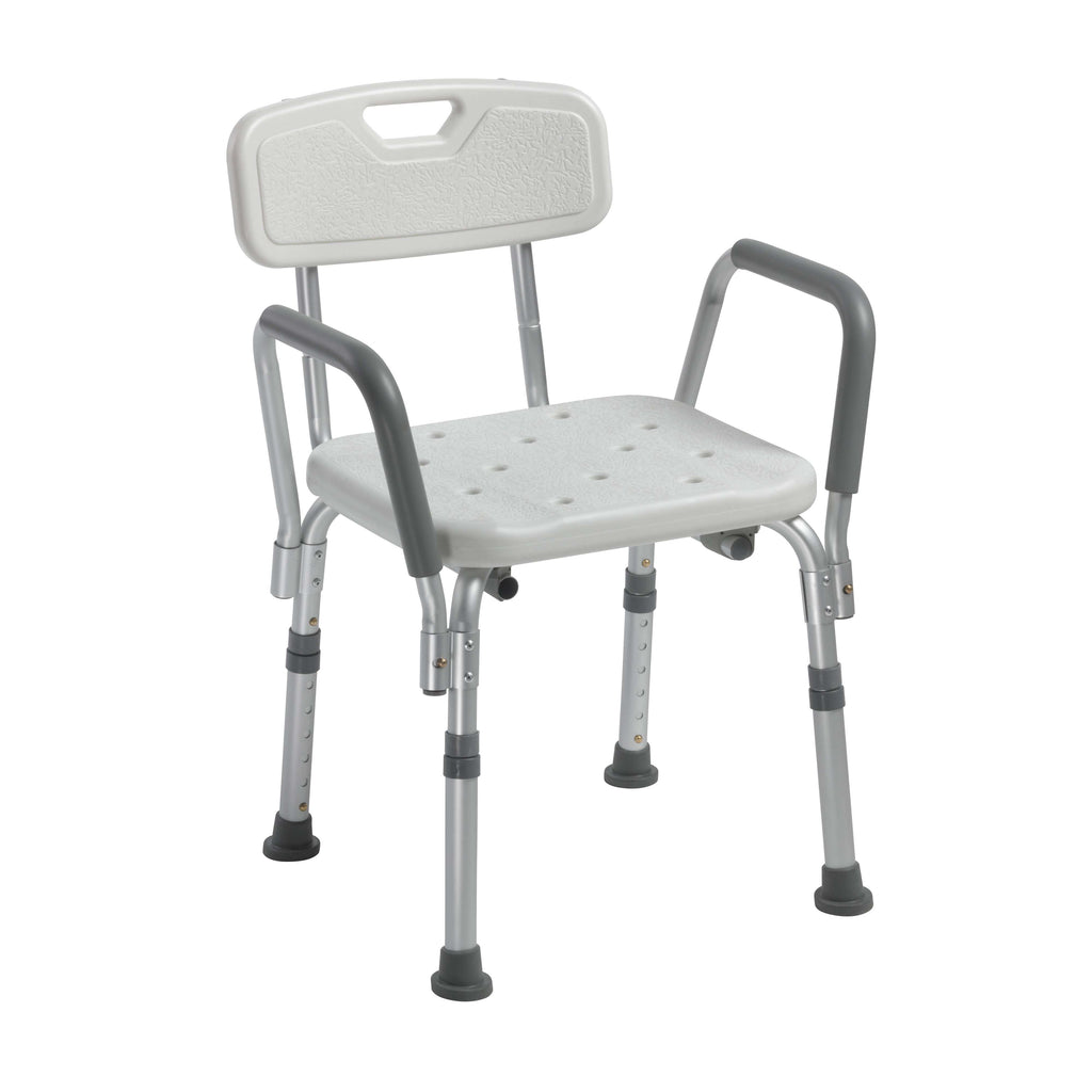 Drive 12445kd-1 Knock Down Bath Bench with Back and Padded Arms - Advanced Healthmart