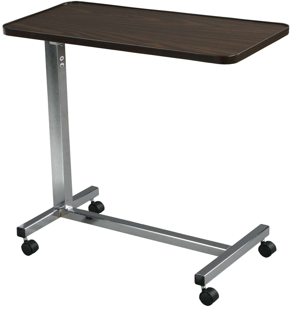Drive 13003 Non Tilt Top Overbed Table, Chrome - Advanced Healthmart
