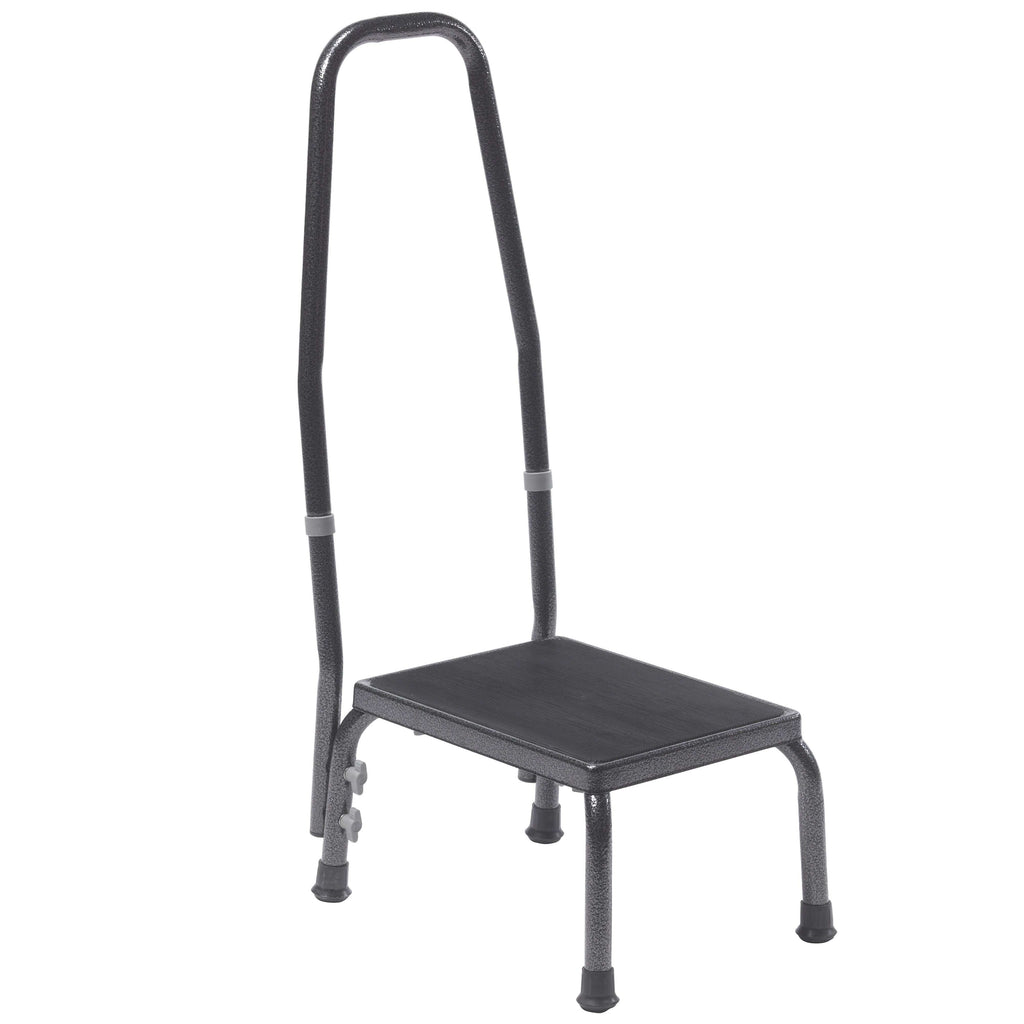 Drive 13031-1sv Footstool with Non Skid Rubber Platform and Handrail - Advanced Healthmart