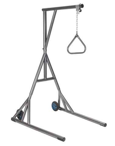Drive 13039sv Heavy Duty Trapeze with Base and Wheels, Silver Vein - Advanced Healthmart