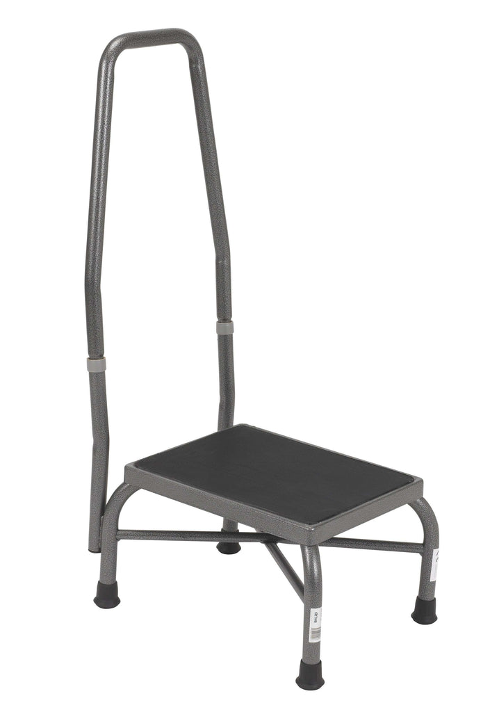 Drive 13062-1SV Heavy Duty Bariatric Footstool with Non Skid Rubber Platform and Handrail - Advanced Healthmart