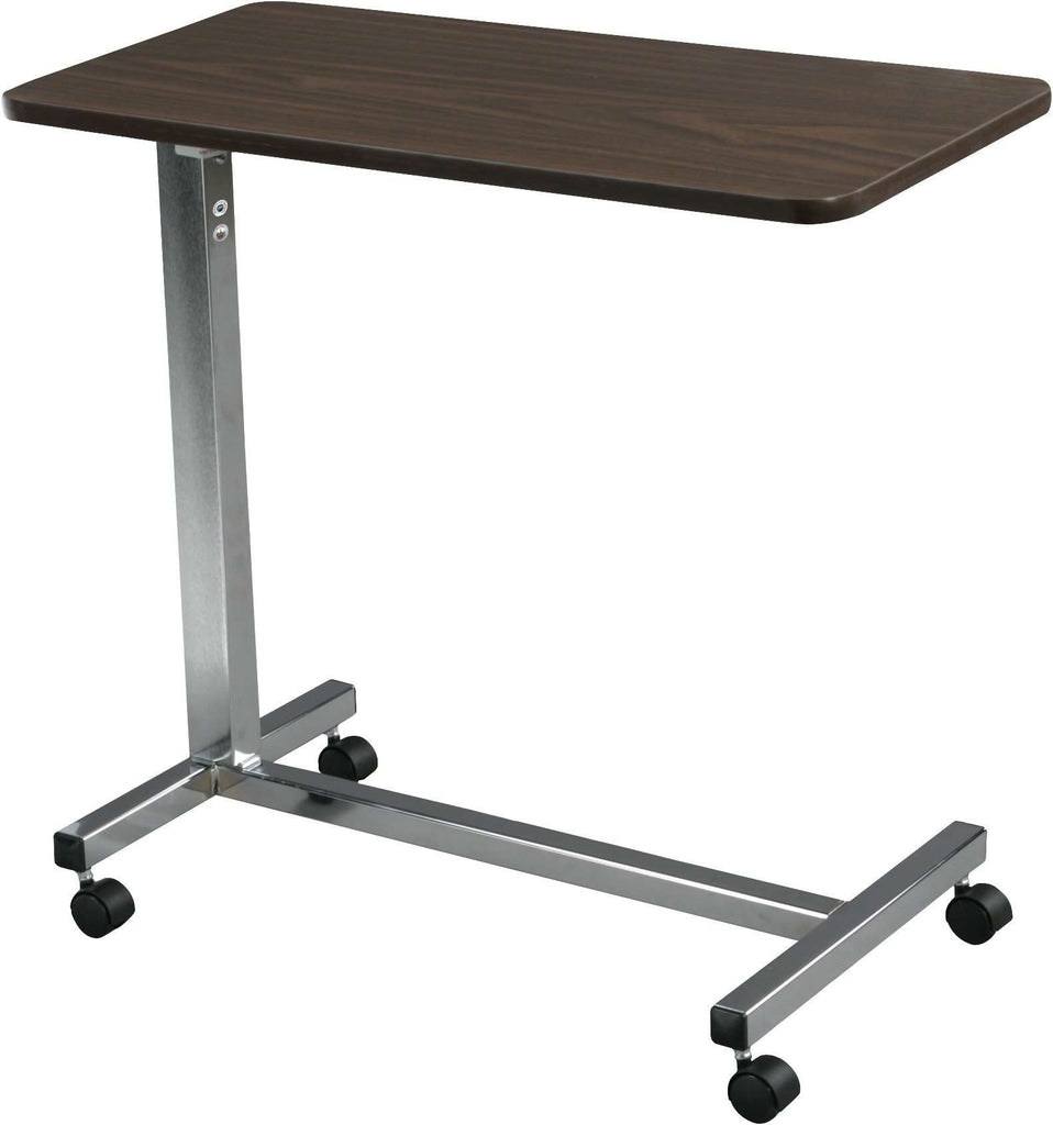 Drive Medical 13067 Non Tilt Top Overbed Table in Silver Vein - Advanced Healthmart