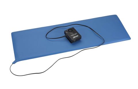 "Drive 13606 Pressure Sensitive Bed Chair Patient Alarm, 11"" x 30"" Bed Pad - Advanced Healthmart"
