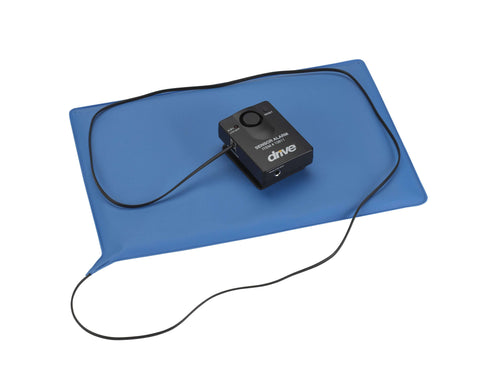 "Drive 13608 Pressure Sensitive Bed Chair Patient Alarm with Reset Button, 10"" x 15"" Chair Pad - Advanced Healthmart"