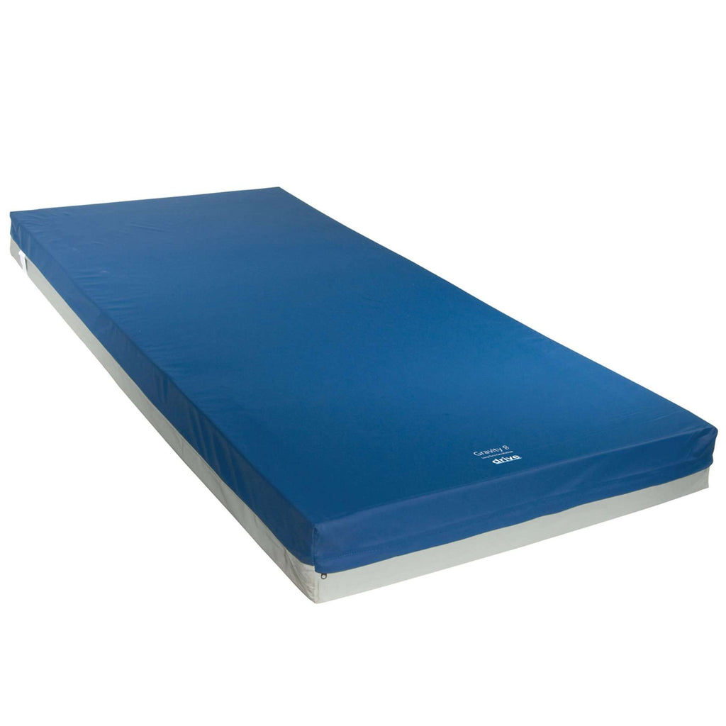 Drive 15870 Gravity 8 Long Term Care Pressure Redistribution Mattress, No Cut Out, Medium - Advanced Healthmart