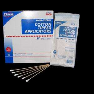 Dukal 6 inch non-sterile cotton applicator tip, 1000/bx, 9006