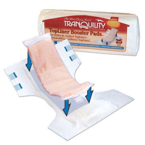"Tranquility 2070 TopLiner 14"" Heavy Absorbency Booster Pad Pk/25 - Advanced Healthmart"