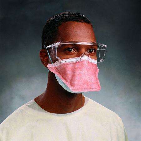 FluidShield N95 Flat Fold Elastic Strap Regular Size Particulate Mask, 46767 each
