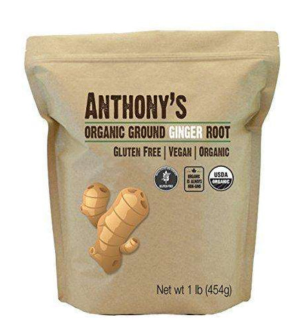 Anthony's Organic Ground Ginger Root (1 Pound), Gluten-Free, Non-GMO - Advanced Healthmart