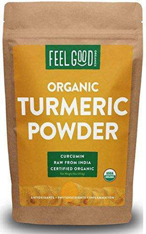 100% Raw Organic Turmeric Powder - 16oz Resealable Bag (1lb) - Advanced Healthmart