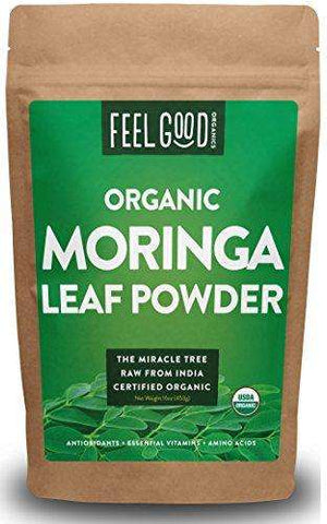 100% Raw Organic Moringa Leaf Powder - 16oz Resealable Bag (1lb)