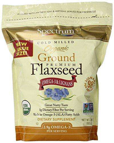 Spectrum Essentials Organic Ground Flaxseed, 24 Ounce - Advanced Healthmart