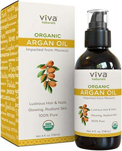 Viva Naturals 100% Pure Organic Moroccan Argan Oil, 4 oz - Advanced Healthmart