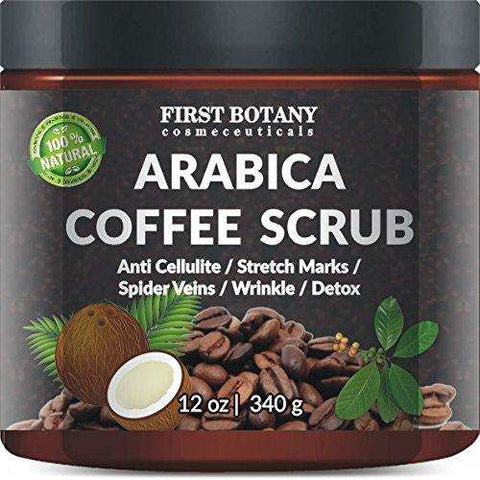 100% Organic Arabica Coffee Scrub 12 oz. with Coconut and Shea Butter