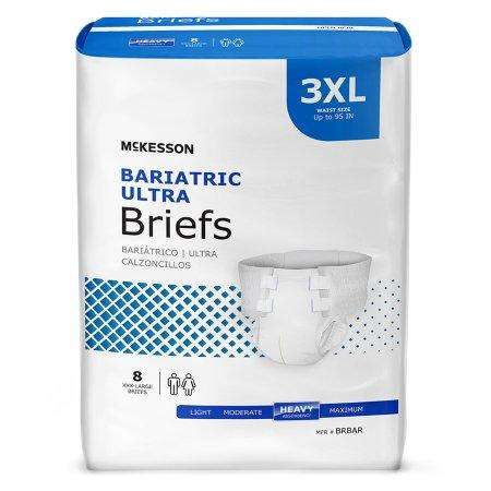 McKesson BRBAR Ultra Plus Adult Contoured 3XL Brief, 8/bag