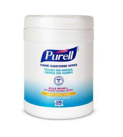 Purell Hand Sanitizing BZK Wipes, 270 count cannister