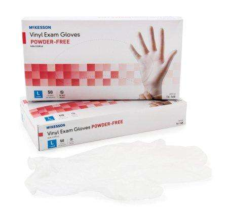 Confiderm Large Vinyl Exam Glove 50/bx 14-168